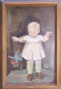 Brigitte mit Puppe