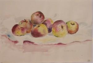 Stilllebn mit Äpfeln