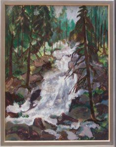 Triberger Wasserfall, 1956, Hinter Glas, WV-Nr. 332