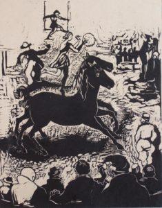 Zirkus, 1934, Holzschnitt, WV-Nr. 406
