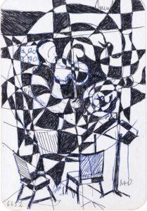 Konzert, 1981, Tinte auf Pappe, WV-Nr. 6652