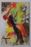 Mephisto tanzt mit der Hexe, 1960, Aquarell, 20 x 30 cm, WV-Nr. 1610