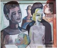 Passanten, 1956, Öl, 65 x 55 cm, WV-Nr. 1143
