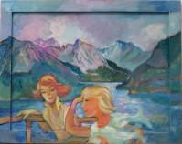 Bootsfahrt, 1972, Öl, 83 x 64 cm, WV-Nr. 4967