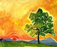 Sonnenuntergang, 1991, Öl, 60 x 50 cm, WV-Nr. 8463